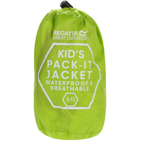Regatta Pack It III Jacket Kids, lime punch
